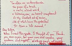 Testimonial letter: Dear Ellen…. Patient 16