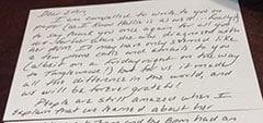 Testimonial letter: Dear Ellen…. Patient 14