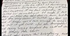 Testimonial letter: Dear Ellen…. Patient 15